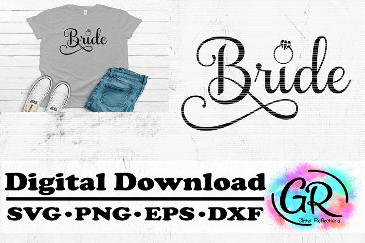 Bride SVG File- Cut File- Wedding- Cricut