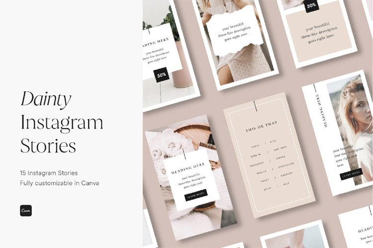 Feminine Instagram Stories Template
