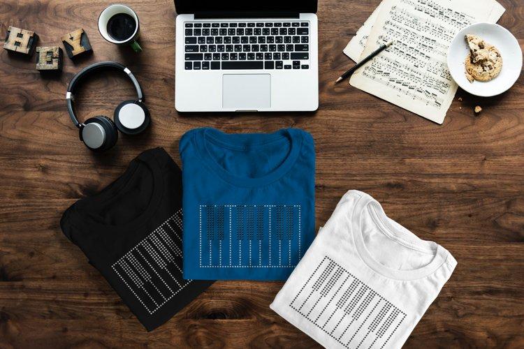 Piano Keys Rhinestone SVG Template