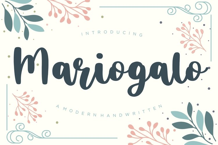 Mariogalo Modern Handwritten Font example image 1