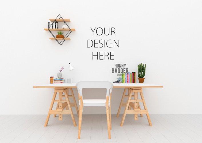 Desk mockup - wall art mock up