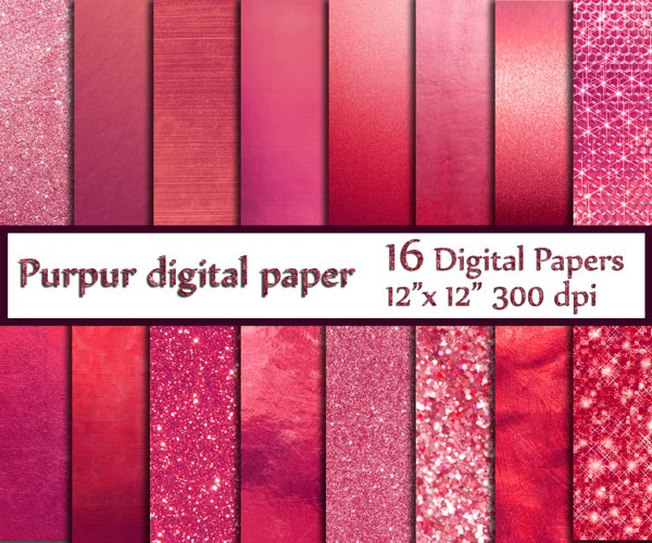 Pink gold digital paper example image 1