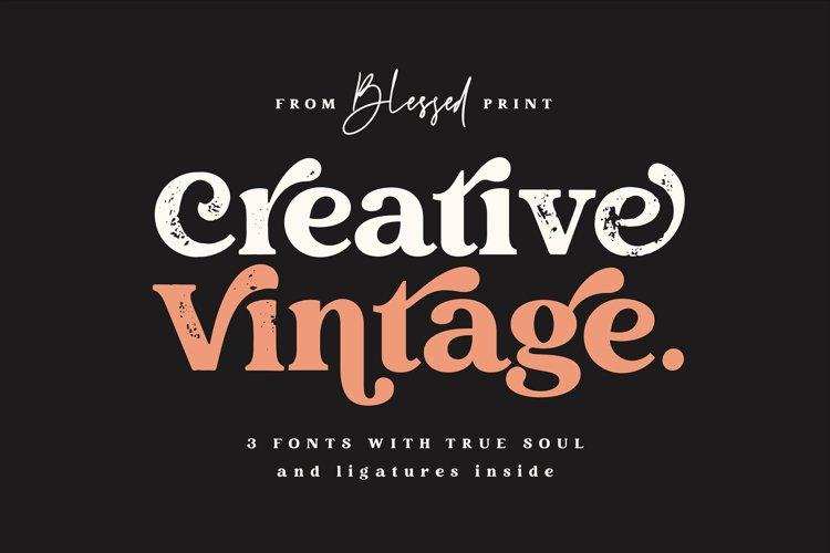 Creative Vintage Serif & Script fonts example image 1