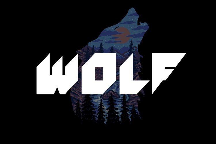 WOLF Font example image 1