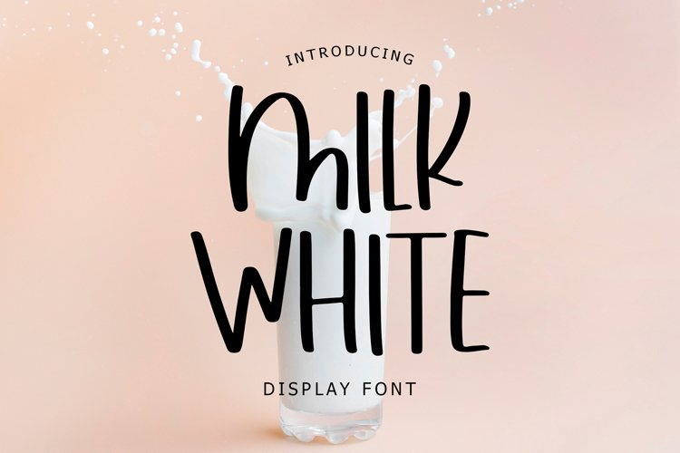 Milk White Display Font example image 1
