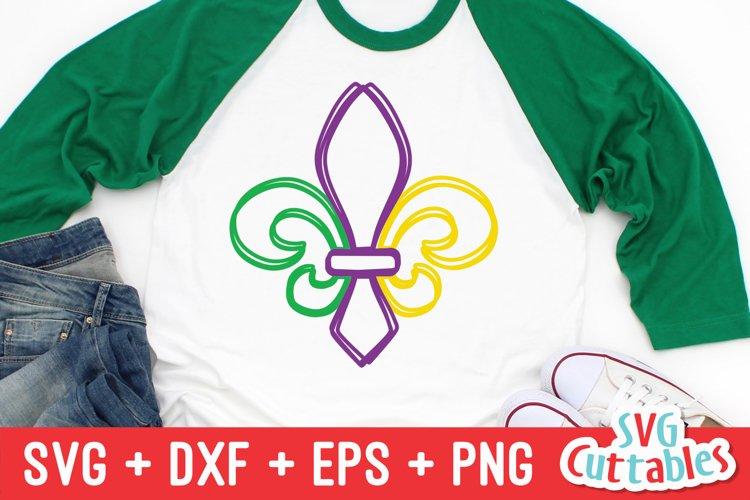 Mardi Gras SVG   Scribble Fleur de lis   Shirt Design