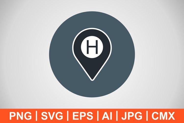 Vector Hospital Location Icon example image 1