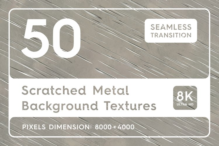 50 Scratched Metal Background Textures. Seamless Transition. example image 1