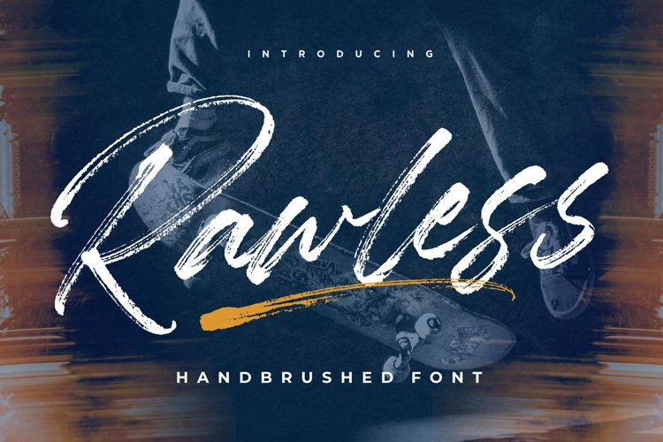 Rawless Natural Handbrushed Font example image 1