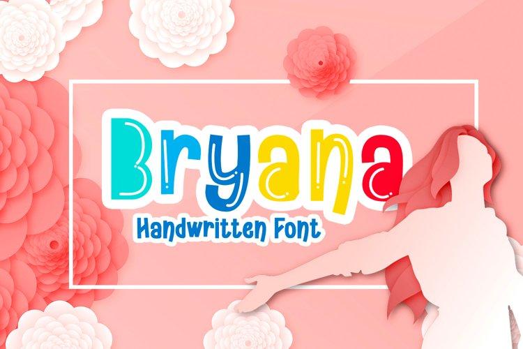Bryana | Handwritten Font example