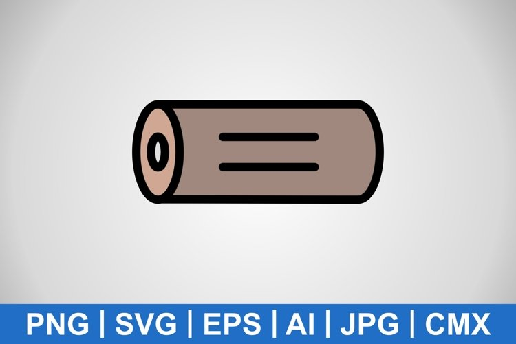 Vector Wood Icon example image 1