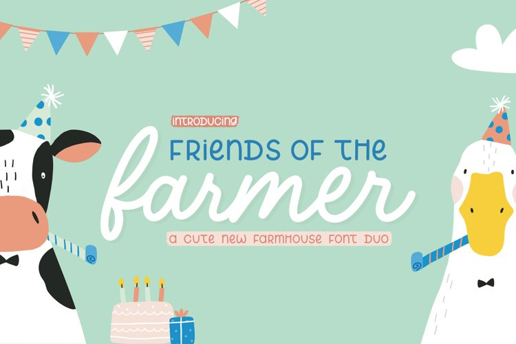 Friends with a Farmers Font Duo example image 1