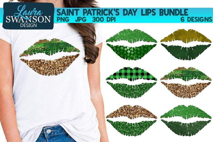 Saint Patricks Day Lips Bundle PNG Sublimation