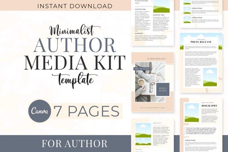 Minimalist Author Media Kit   Media Kit Template