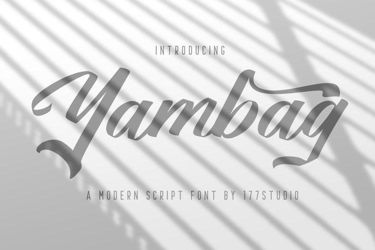 Yambag Modern Script Font example image 1