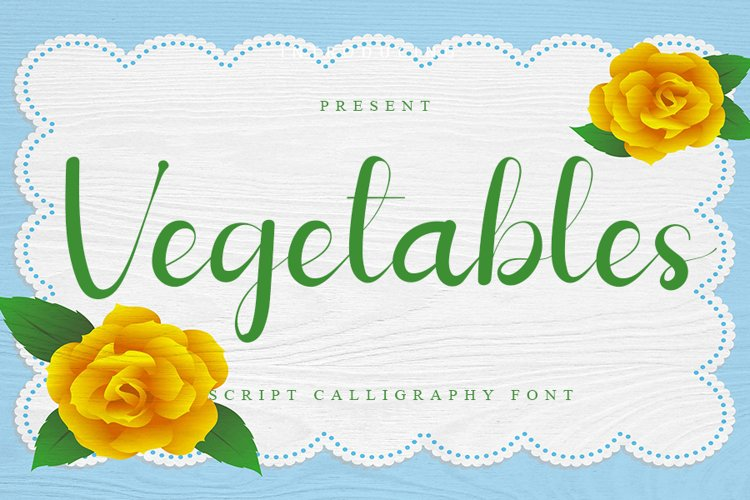 Vegetables - Script Calligraphy Font example image 1