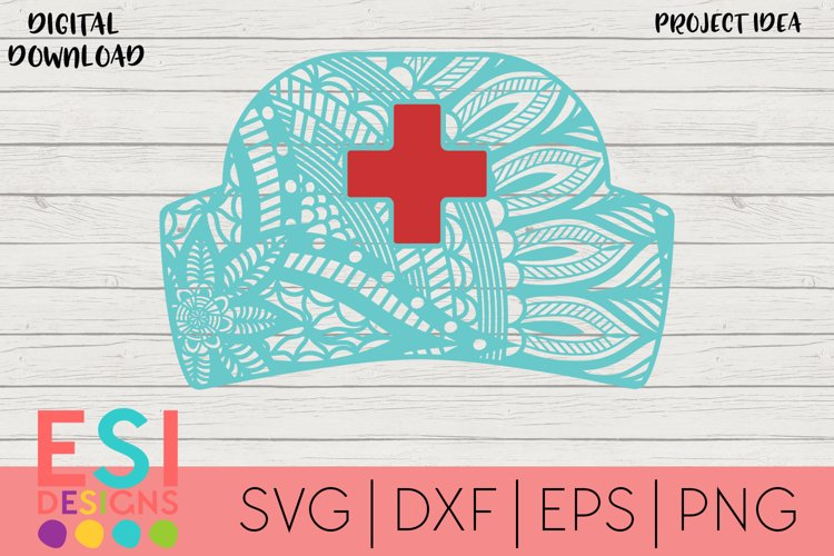 Zentangle SVG | Nurse SVG | Paper Cutting Template