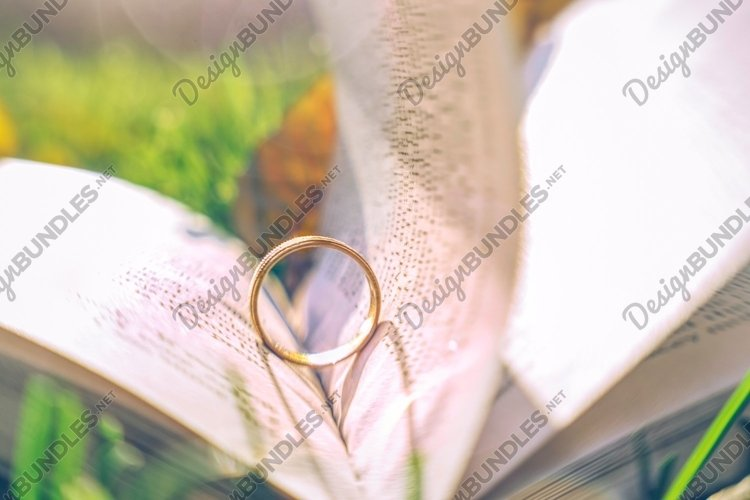 Golden engagement ring example image 1