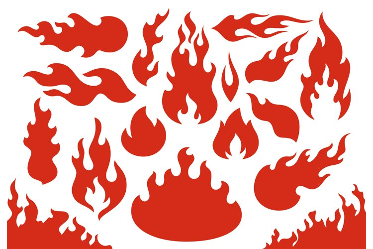 Blazing fire flames. Flaming red wildfire fiery or racing fl example image 1