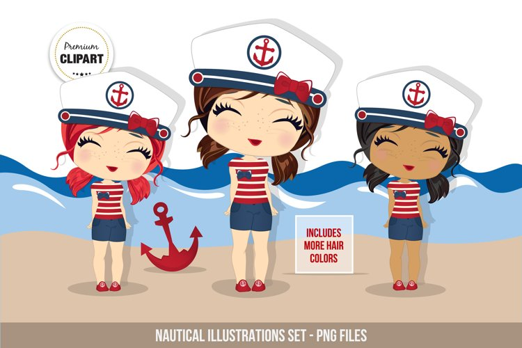 Nautical graphics, Nautical girl example image 1