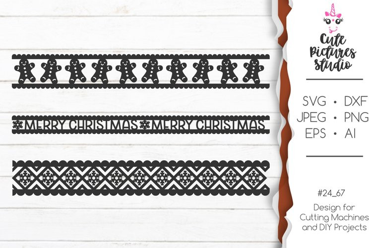 Christmas ornaments Cricut SVG bundle, Christmas ribbon SVG example image 1