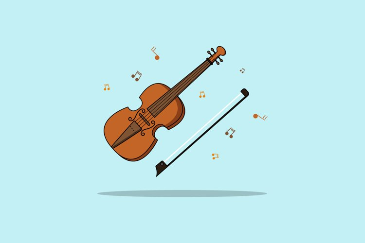 Violin Vector illustration example image 1