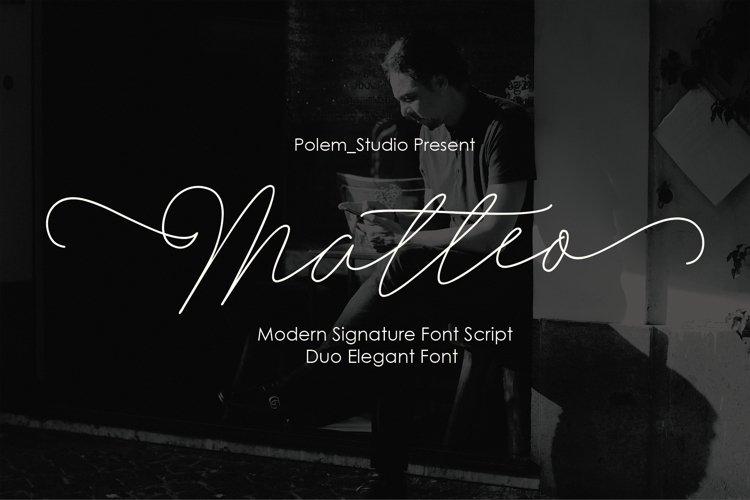 Matteo Script example image 1