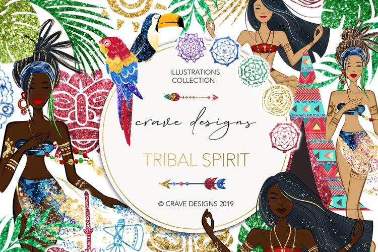 Tribal Spirit Clip Art example image 1
