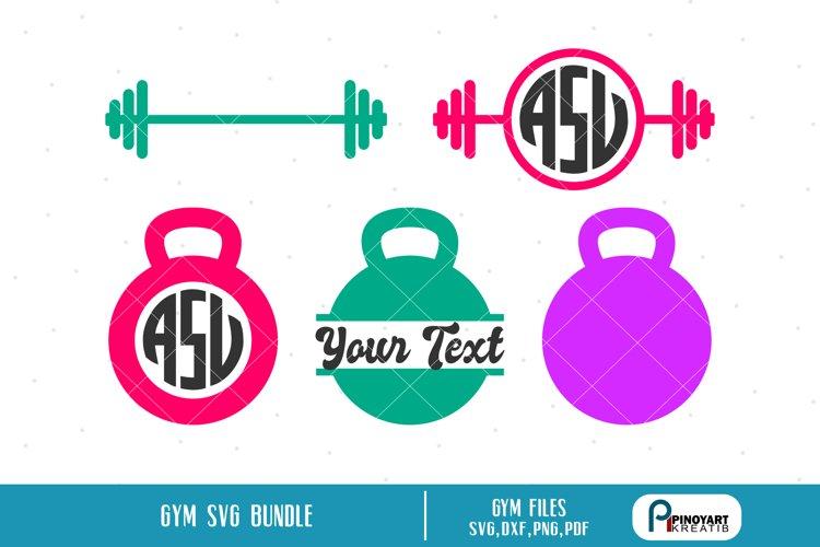 gym svg,gym svg file,gym monogram svg,gym dxf file example image 1