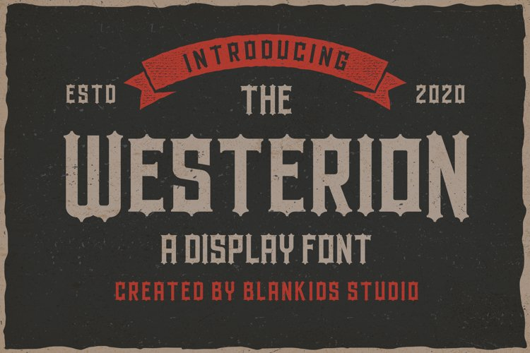 Westerion a Vintage Display Font example image 1