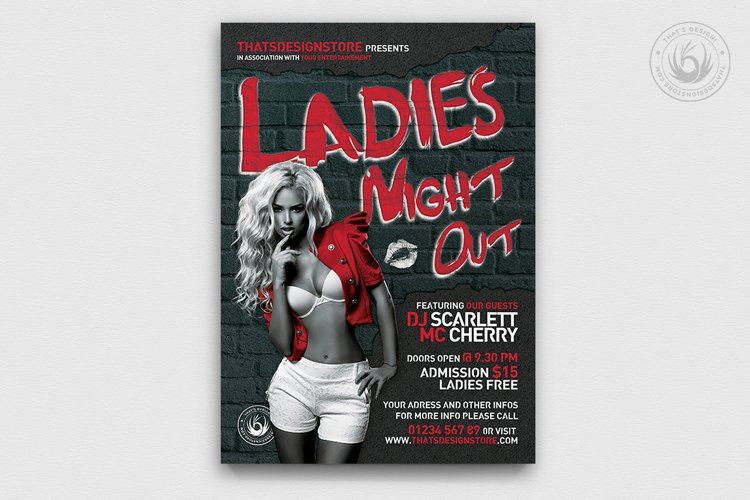 Ladies Night Flyer Template V7