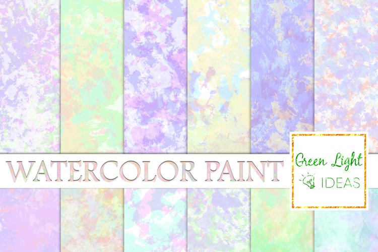 Watercolor Paint Digital Papers, Watercolor Backgrounds example image 1
