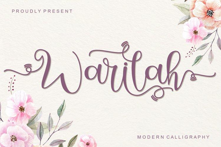 Warilah - Modern Calligraphy example image 1