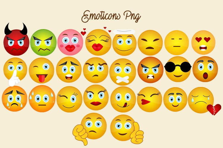 Emoticons Png Elements Pack