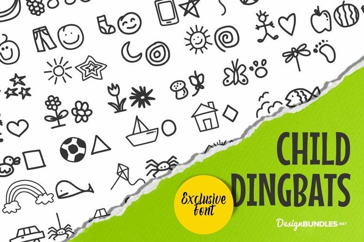 Web Font Child Dingbats example image 1