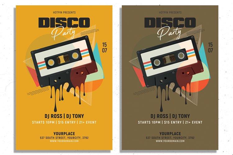 Retro Disco Party Flyer Template example image 1