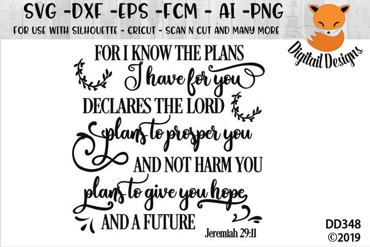 Jeremiah 29.11 SVG example image 1