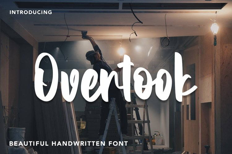 Overtook - Handwritten Font example image 1