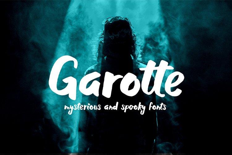 Garotte    scary graffiti font example image 1