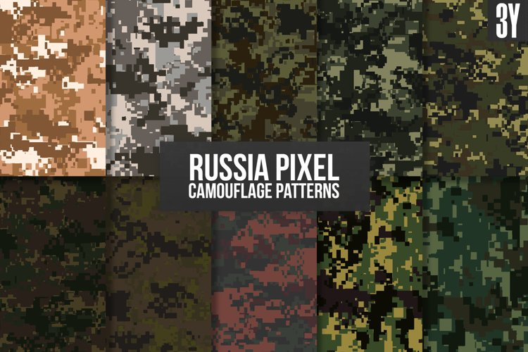 Russia Pixel Camouflage Patterns