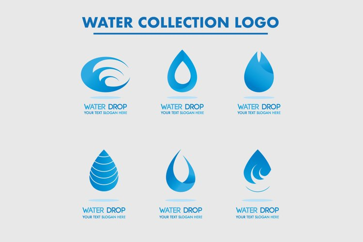 Water Collection Logos For Your Drop Company example image 1