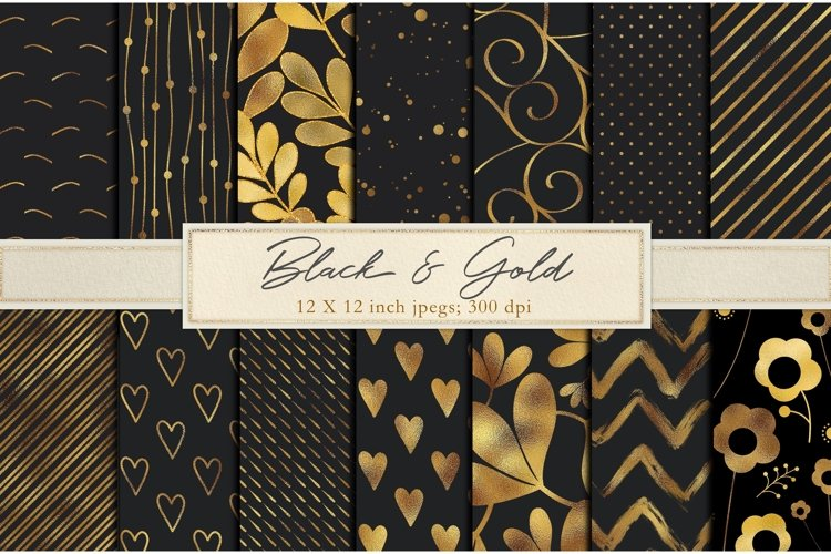 Black and gold foil backgrounds example image 1