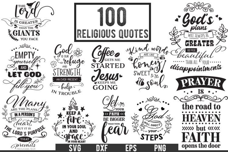 Download 100 Religious Quotes Cut Files Pack Limited Promo 412329 Cut Files Design Bundles