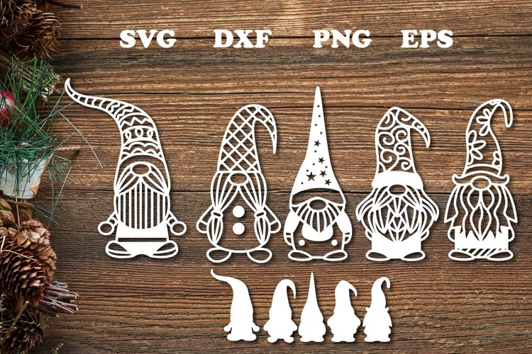 Christmas Gnome Svg Cut File example image 1