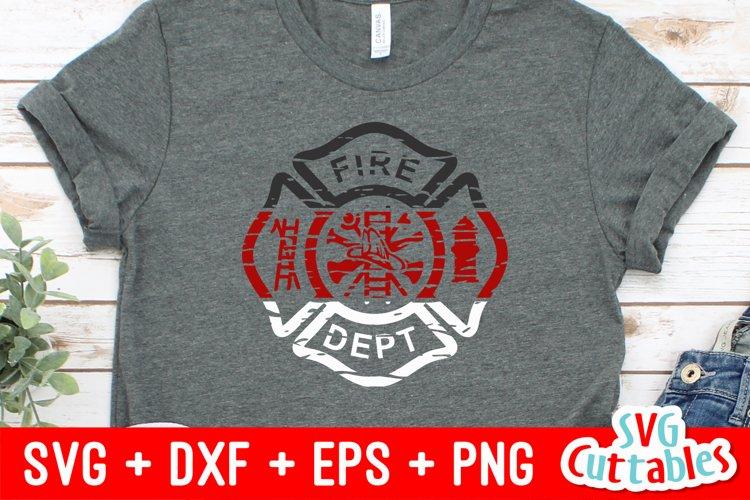Firefighter SVG   Distressed Maltese Cross   Shirt Design