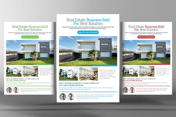 Real Estate& Property Flyer Templates example image 1