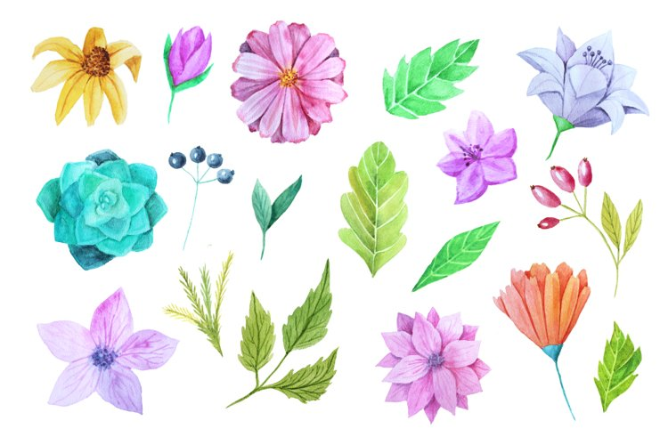 Watercolor Flower Pack example 1