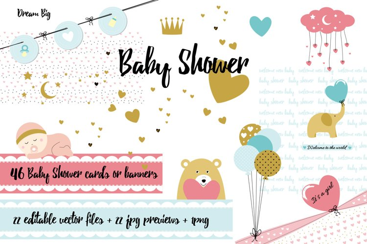 Baby Shower - cards and banners example image 1