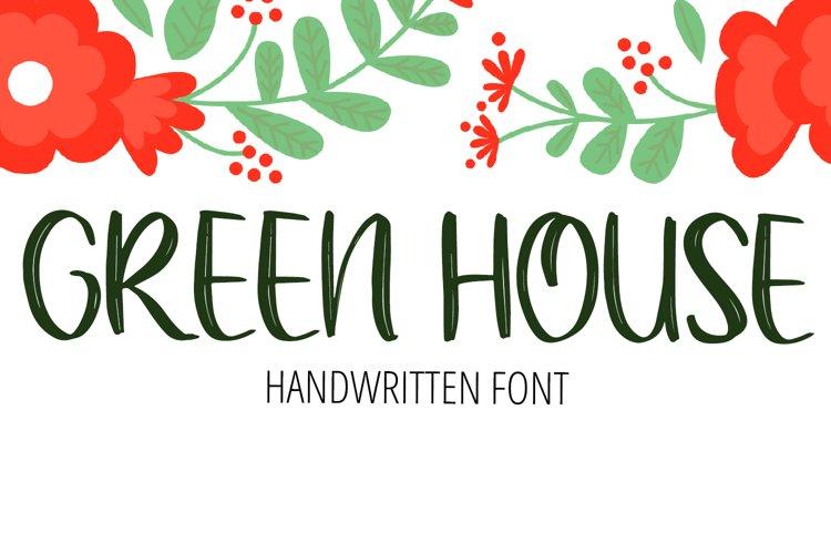 Green House Handwritten Brush Font example image 1