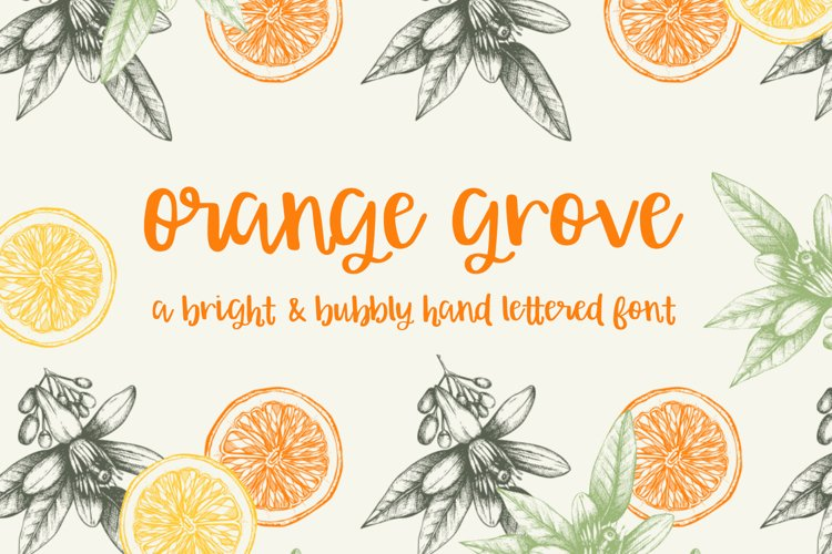 Orange Grove Script - Free Font of The Week Font